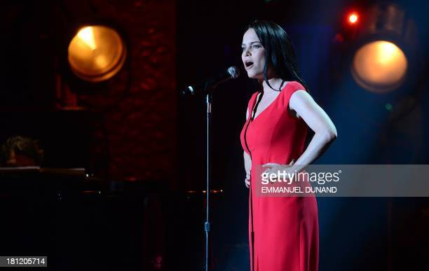 "British singer Duffy performs during the Francofolies New York ""Tribute to Edith Piaf"", at the Beacon Theatre in New York, September 19, 2013...."