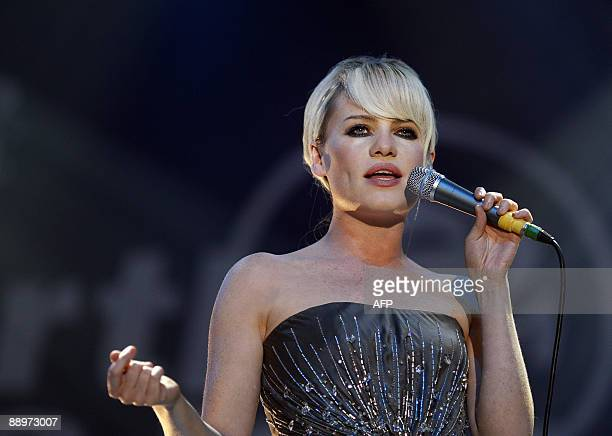 British singer Duffy performs on stage in Rotterdam, during the world's biggest indoor jazz festival, the North Sea Jazz Festival, on July 10, 2009....