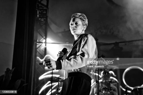 British singer Eleanor Jackson aka La Roux performs live on stage during a concert at the Metropol on February 15, 2020 in Berlin, Germany.