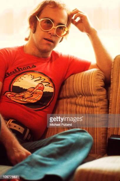 British singer Elton John circa 1974
