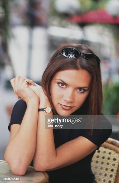 British singer, fashion designer and businesswoman Victoria Beckham, 'Posh Spice', of girl group the Spice Girls, Paris, 1996.