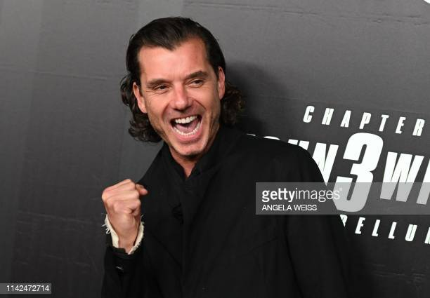 British singer Gavin Rossdale arrives for the world premiere of John Wick Chapter 3 Parabellum at One Hanson in New York on May 9 2019