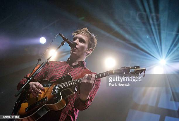 British singer George Ezra performs live during a concert at the Huxleys on November 11 2014 in Berlin Germany