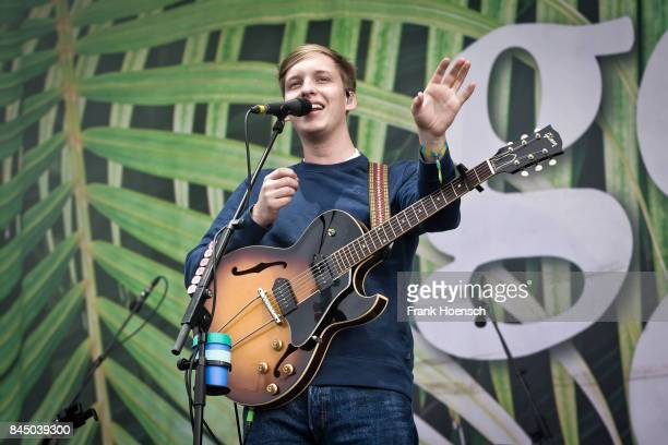 British singer George Ezra performs live on stage during first day at the Lollapalooza Festival on September 9 2017 in DahlwitzHoppegarten Germany
