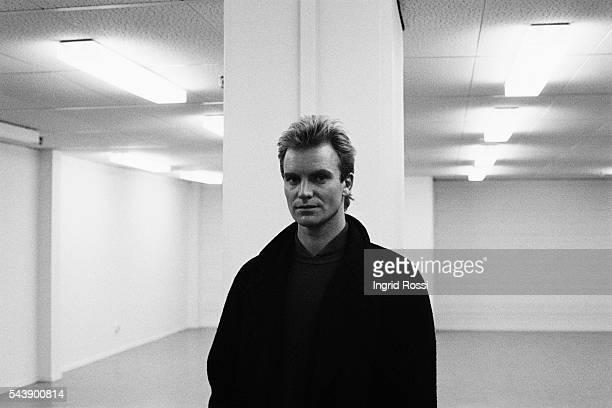 British singer guitar bassist and leader of rock band The Police Sting