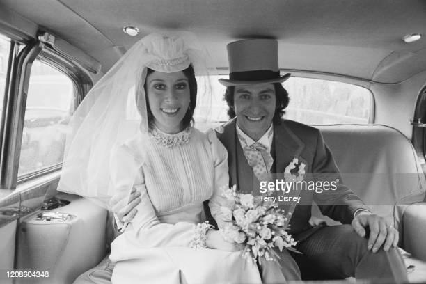 British singer Helen Shapiro and her husband British businessman Morris Gundlash in their wedding car United Kingdom 18th June 1972