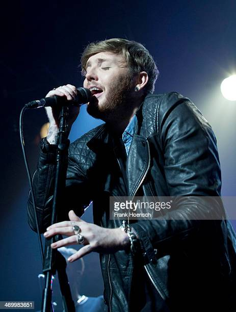 British singer James Arthur performs live during a concert at the Postbahnhof on February 17, 2014 in Berlin, Germany.