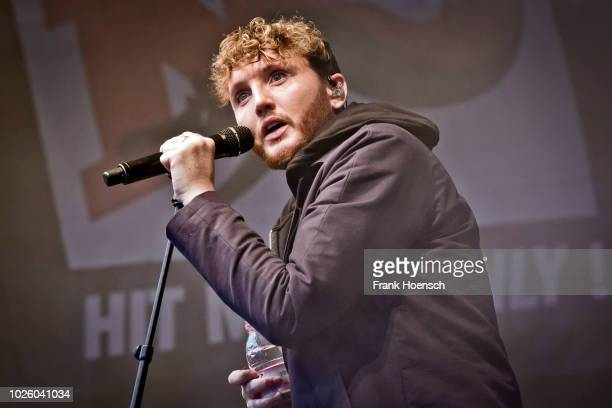 British singer James Arthur performs live on stage during the Energy Music Tour at the Kulturbrauerei on September 1, 2018 in Berlin, Germany.