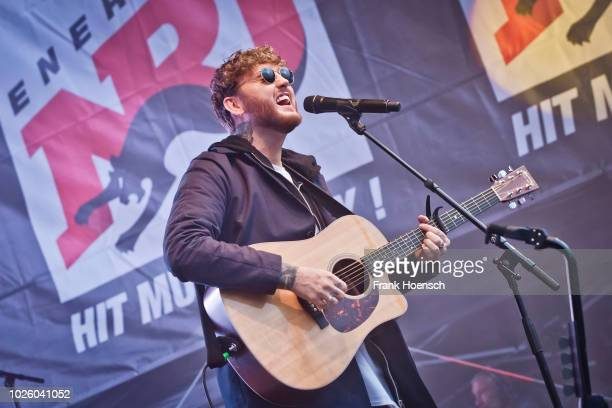 British singer James Arthur performs live on stage during the Energy Music Tour at the Kulturbrauerei on September 1 2018 in Berlin Germany