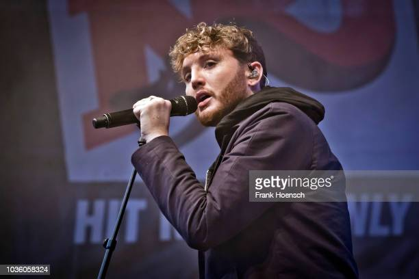 British singer James Arthur performs live on stage during the Energy Music Tour at the Kulturbrauerei on September 1, 2017 in Berlin, Germany.