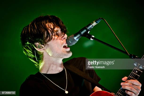 British singer James Bay performs live on stage during a concert at the Huxleys on June 12 2018 in Berlin Germany