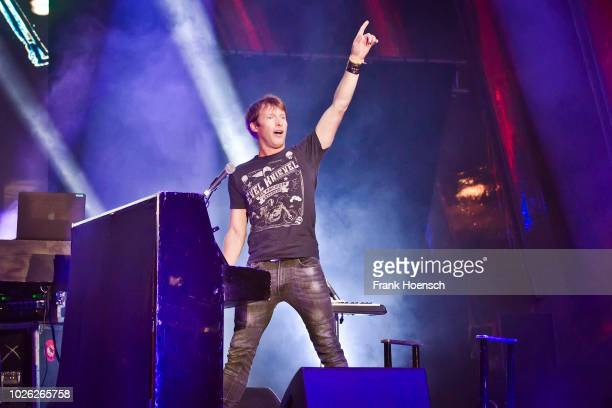 British singer James Blunt performs live on stage during a concert at the IFA Sommergarten on September 2, 2018 in Berlin, Germany.