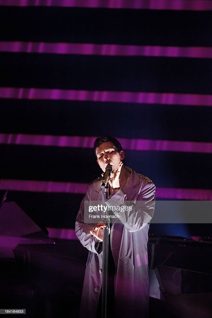 British singer Jamie Lidell performs live during a concert at the Kesselhaus on March 20, 2013 in Berlin, Germany.