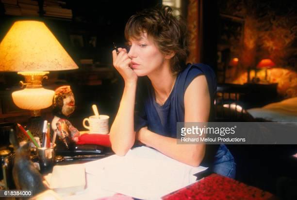 British singer Jane Birkin is at her home in Paris.