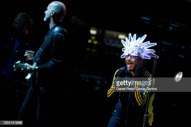 British singer Jay Kay of Jamiroquai performs during a concert at the Starlite Music Festival on July 22 2018 in Marbella Spain