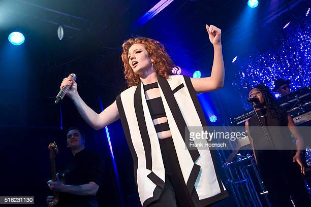 British singer Jess Glynne performs live during a concert at the Postbahnhof on March 17 2016 in Berlin Germany