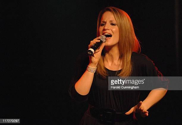 British singer Jessica Garlick performs at the UK Eurovision Preview Party held at Scala on April 17 2009 in London England Jessica Garlick was third...