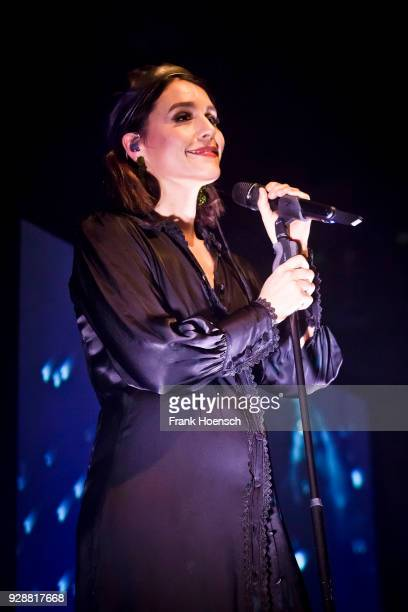 British singer Jessie Ware performs live on stage during a concert at the Huxleys on March 7 2018 in Berlin Germany