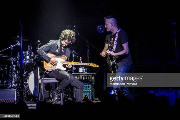 British singer Joe Sumner with a member of american band The Last Bandoleros performs at Fabrique. Milan , march 23, 2017
