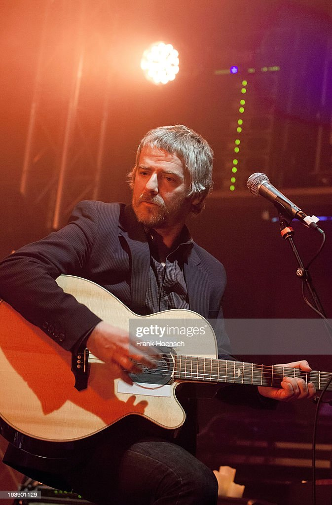 British singer John Bramwell of I Am Kloot performs live during a concert at the Lido on March 17, 2013 in Berlin, Germany.