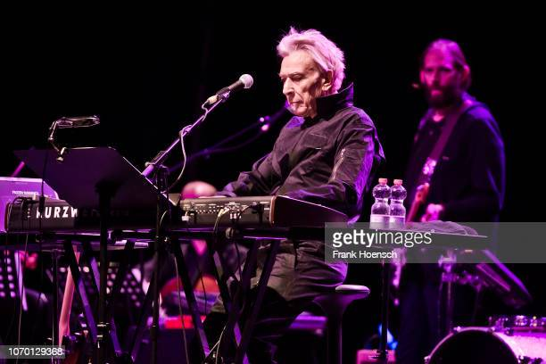 British singer John Cale performs live on stage during a concert at the Verti Music Hall on December 8 2018 in Berlin Germany