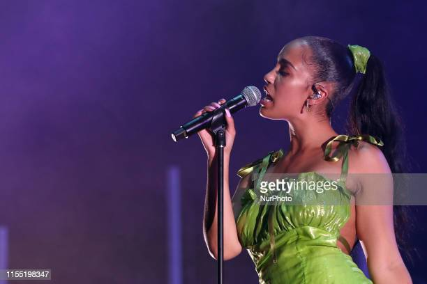 British singer Jorja Smith performs during the NOS Alive 2019 music festival in Lisbon Portugal on July 11 2019 The NOS Alive music festival runs...