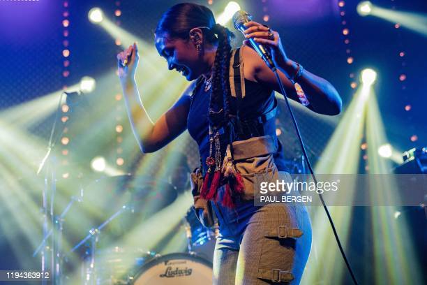 British singer Joy Crookes performs Georgia Barnes at Eurosonic Noorderslag Festival in Groningen on January 18 2020 / Netherlands OUT