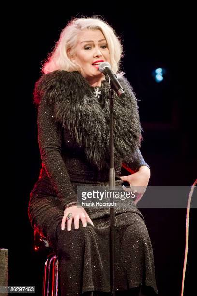 British singer Kim Wilde performs live on stage during a concert at the Heimathafen Neukoelln on December 3 2019 in Berlin Germany