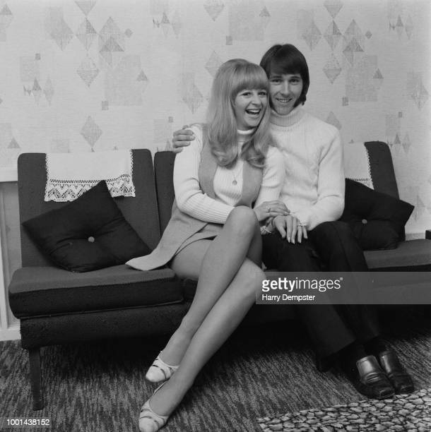 British singer Len Chip Hawkes of the The Tremeloes with his fiancee British actress Carol Dilworth UK 4th February 1969