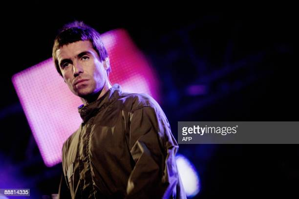 British singer Liam Gallagher of music band Oasis performs on a stage on July 3 2009 at Roskilde Festival Denmark AFP PHOTO/ Anders Birch/SCANPIX