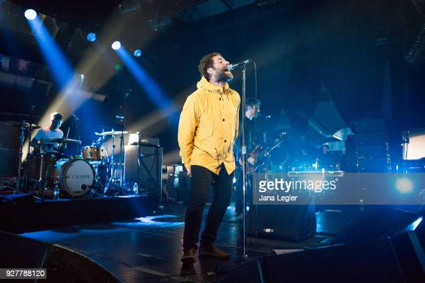 British singer Liam Gallagher performs live on stage during a concert at the Columbiahalle on March 5 2018 in Berlin Germany