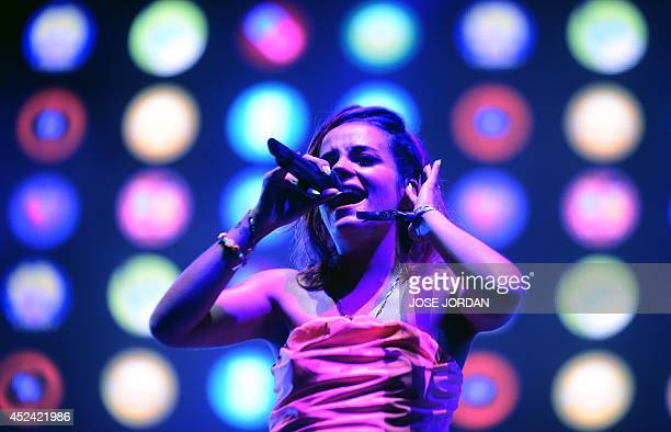 British singer Lily Allen performs during the Benicassim International Festival in Benicassim Castellon province on July 19 2014 The FIB runs from...
