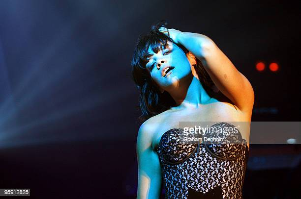 British singer Lily Allen performs on stage in concert at the Hordern Pavilion on January 21 2010 in Sydney Australia