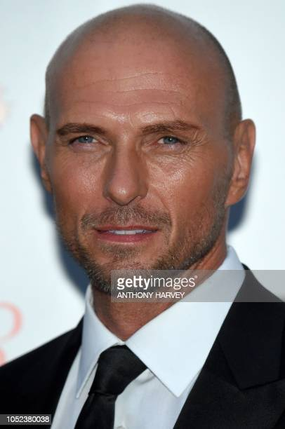 British singer Luke Goss of the band Bros poses upon arrival for the UK premiere of the film 'Bros After The Screaming Stops' during the BFI London...