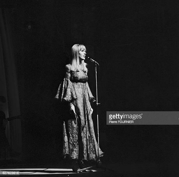 British singer Marianne Faithfull performs at Paris' Olympia concert hall
