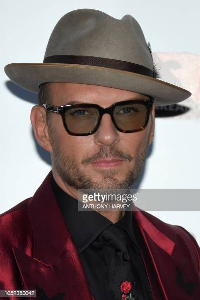 British singer Matt Goss of the band Bros poses upon arrival for the UK premiere of the film 'Bros After The Screaming Stops' during the BFI London...
