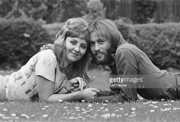 British singer Maurice Gibb and his wife Scottish singer Lulu UK 10th May 1971