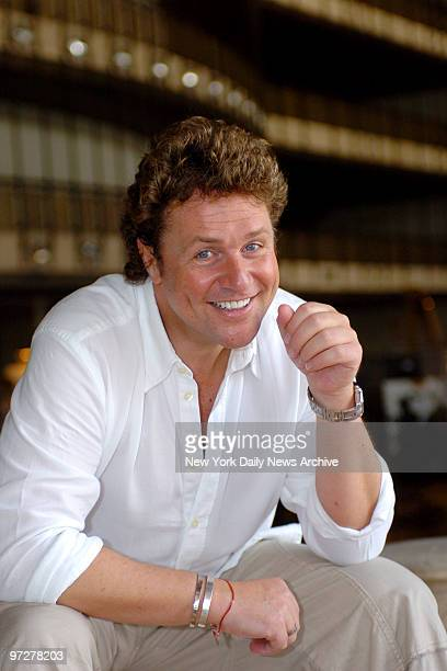 British singer Michael Ball rehearses for Patience a Gilbert and Sullivan Opera opening September 10th at the New York City Opera