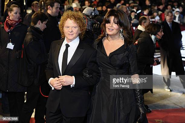 British singer Mick Hucknall of the band Simply Red and his wife Gabrielle attend the Goldene Kamera 2010 Award at the Axel Springer Verlag on...