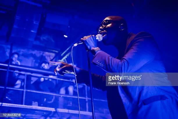British singer Obaro Ejimiwe aka Ghostpoet performs live on stage during the Festival PopKultur at the Kesselhaus on August 17 2018 in Berlin Germany