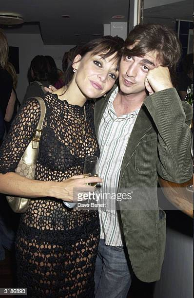 """British singer Pearl and British pop star Danny Gofey attends the """"Wheels and Dolls Baby Party"""" held at Harvey Nicholls on September 8, 2003 in..."""