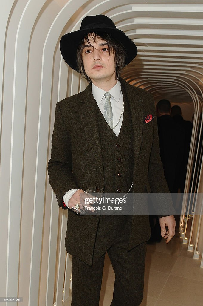 British singer Pete Doherty attends the Joseph flagship opening, as part of Paris fashion week, at Joseph store on March 8, 2010 in Paris, France.