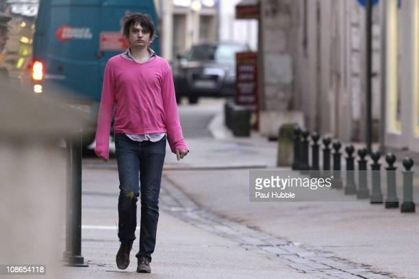British singer Pete Doherty sighting on January 13, 2011 in Bourg-en-Bresse, France.
