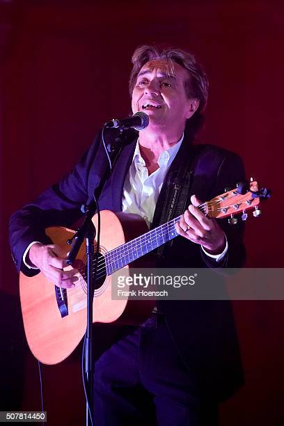 British singer Peter Howarth of The Hollies performs live during a concert at the Passionskirche on January 31 2016 in Berlin Germany
