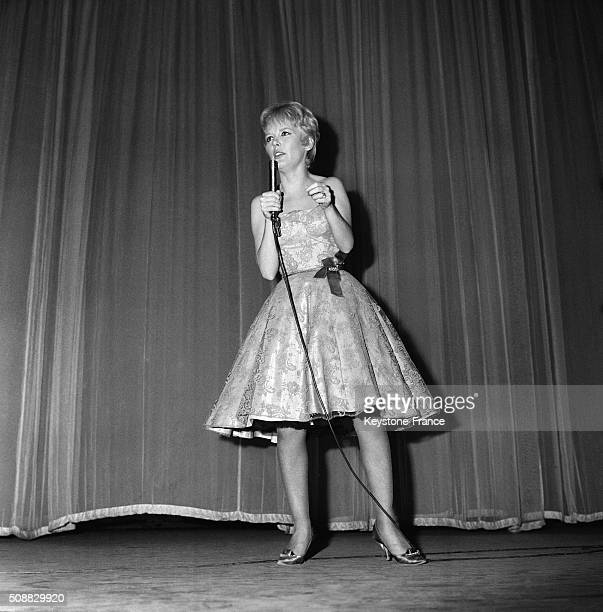 British Singer Petula Clark Now A Star In France At the Olympia Music Hall in Paris France on November 21 1962