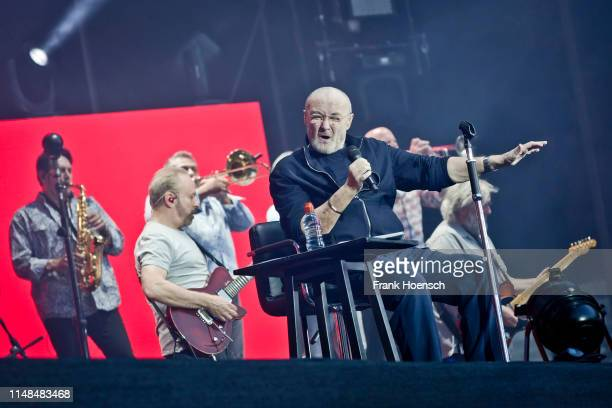 British singer Phil Collins performs live on stage during a concert at the Olympiastation on June 7 2019 in Berlin Germany
