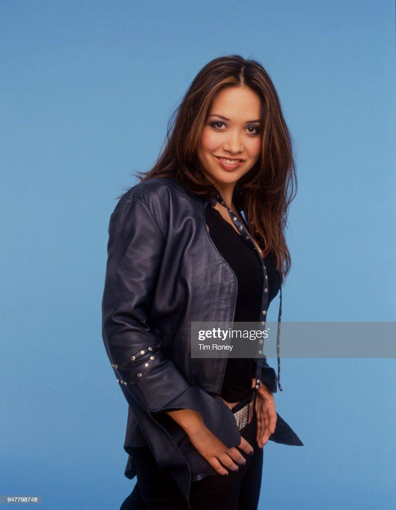 British singer, pianist, and model Myleene Klass, circa 2001.