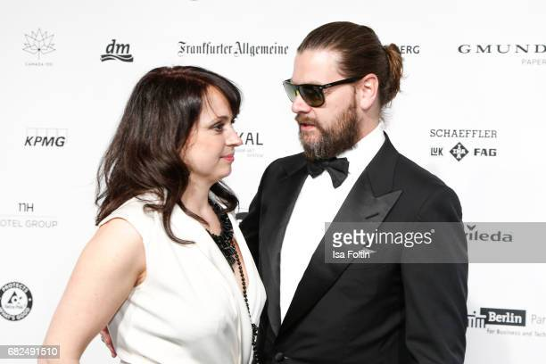 British singer Rea Garvey and his wife Josephine Garvey attend the GreenTec Awards at ewerk on May 12, 2017 in Berlin, Germany.