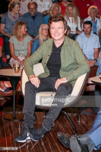 British singer Rick Astley during the 'Markus Lanz' TV show on September 19 2018 in Hamburg Germany