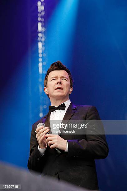 British singer Rick Astley performs live during the Stadtwerkefestival on June 29 2013 in Potsdam Germany